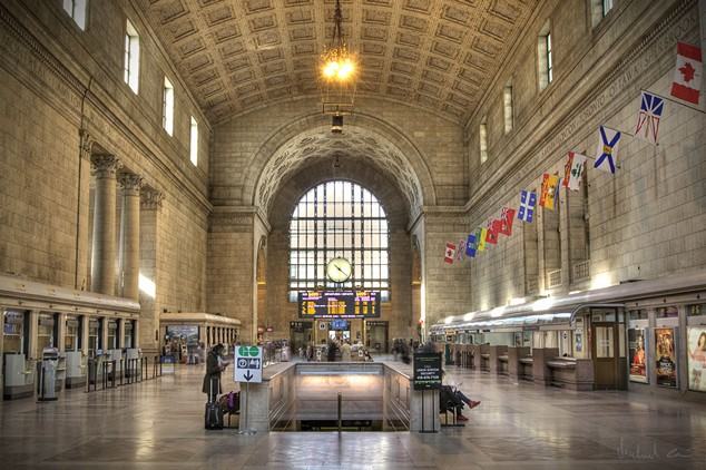 The Great Hall of Union Station in Toronto